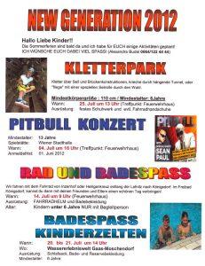 Ferienprogram für unsere Kinder und Jugendliche