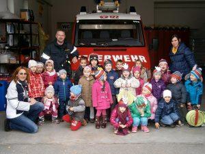 Besuch beim Feuerwehrhaus
