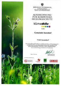 Auszeichnung Klimaschutz