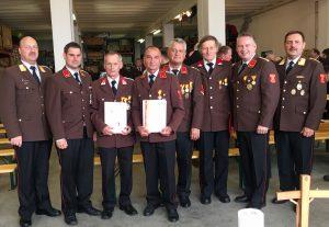 Ehrung Feuerwehrmitglieder
