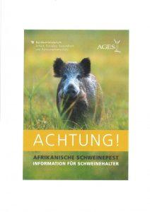 Information zur Afrikanischen Schweinepest