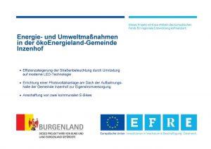Energie- und Umweltmaßnahmen in der ökoEnergieland-Gemeinde Inzenhof